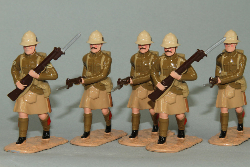 WW128 - Great War British Highland Light Infantry, Gallipoli 1915. From Regal - Piers Christian Toy Soldiers - 4