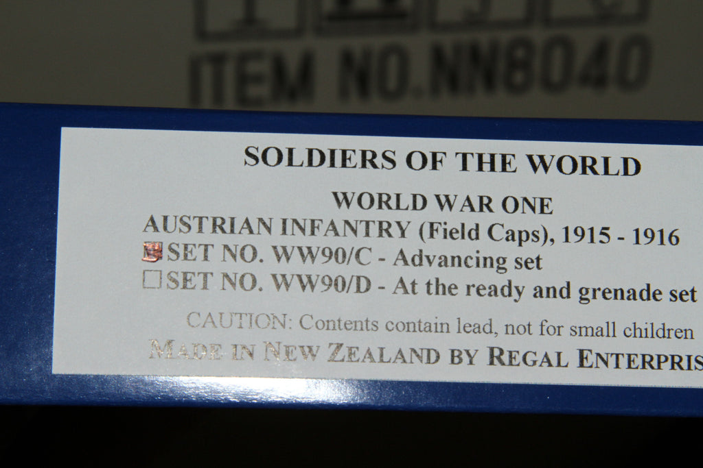 WW90C - Austrian Infantry 1915-16. Advancing Officer and troops from Regal Toy Soldiers - Piers Christian Toy Soldiers - 5