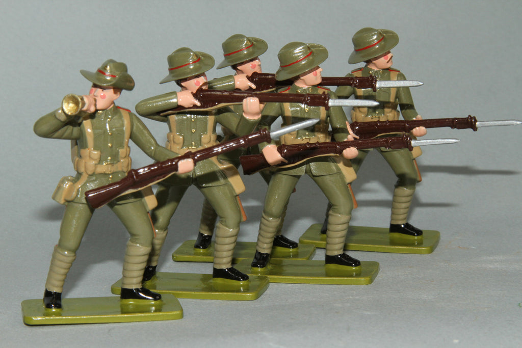 GW6 - Canterbury Infantry Battalion, Gallipoli 1915. Made by Regal Toy Soldiers - Piers Christian Toy Soldiers - 1
