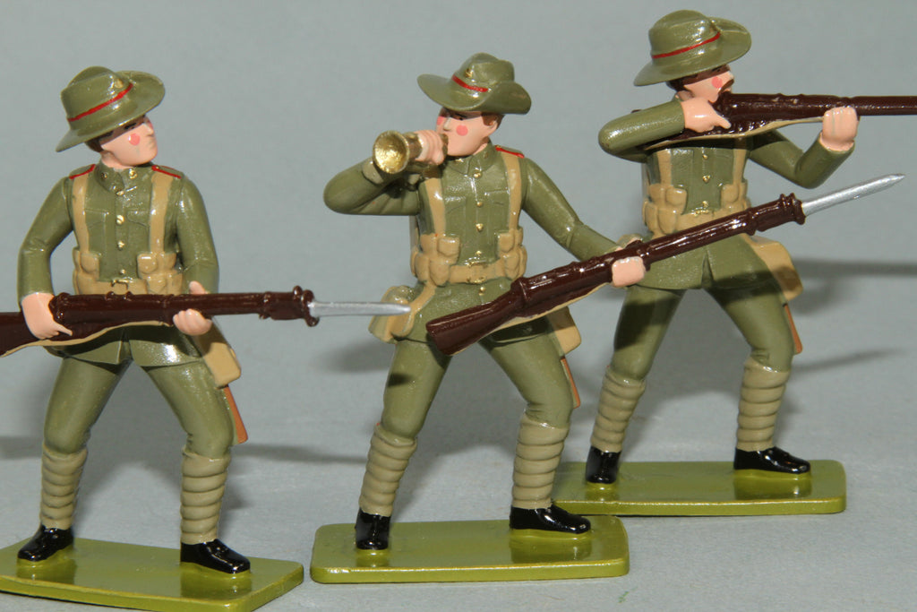 GW6 - Canterbury Infantry Battalion, Gallipoli 1915. Made by Regal Toy Soldiers - Piers Christian Toy Soldiers - 2