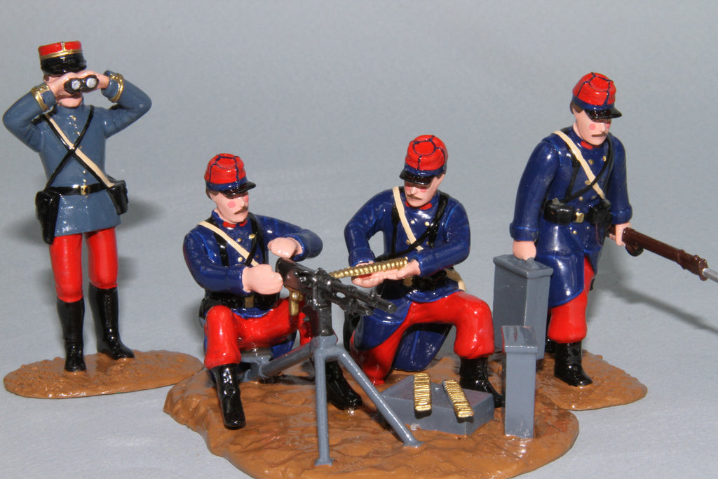 WW140A- French Hotchkiss Machine Gun and crew from Regal