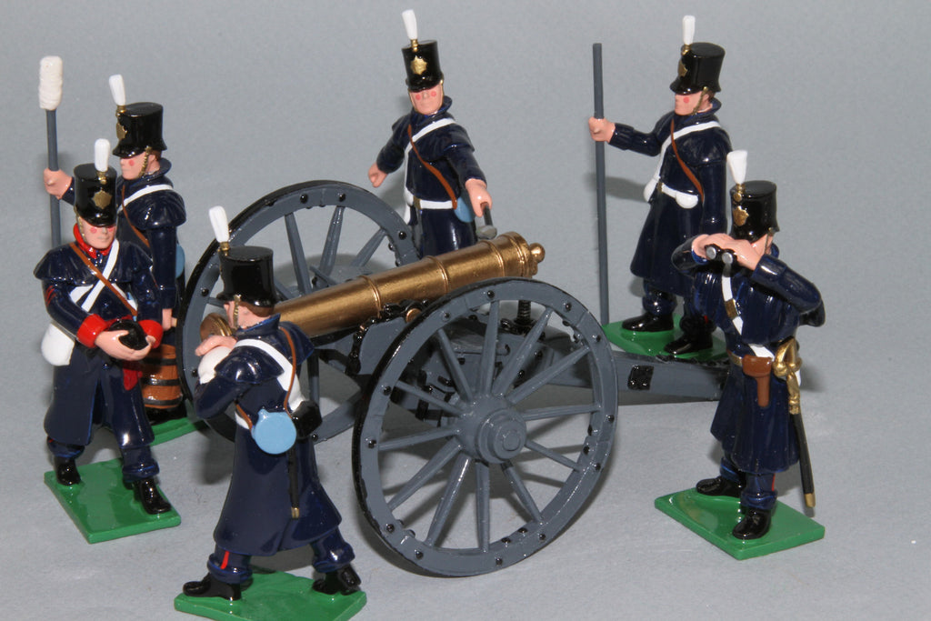 CW54A - Crimean War Royal Artillery 9lb Gun with six man crew from Regal