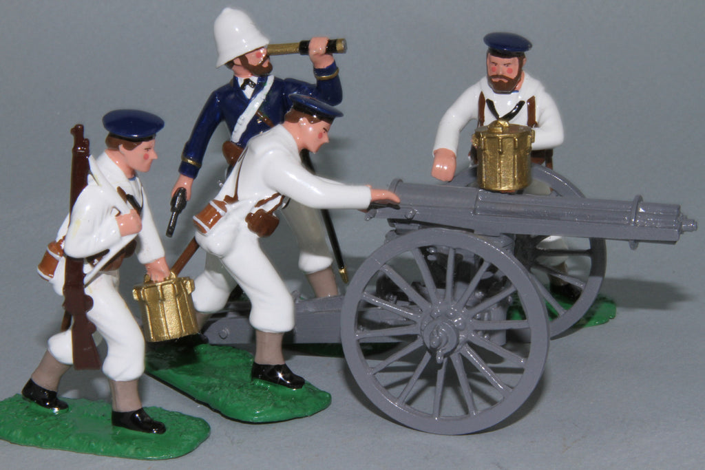 ZW25 - Zulu War, Royal Navy Gatling Gun and Crew from Regal Toy Soldiers
