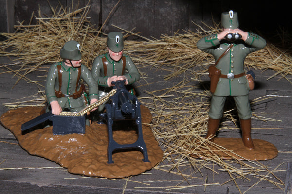 WW122 - German Jaegers Maxim Gun Team, Western Front 1914. Made by Regal Toy Soldiers