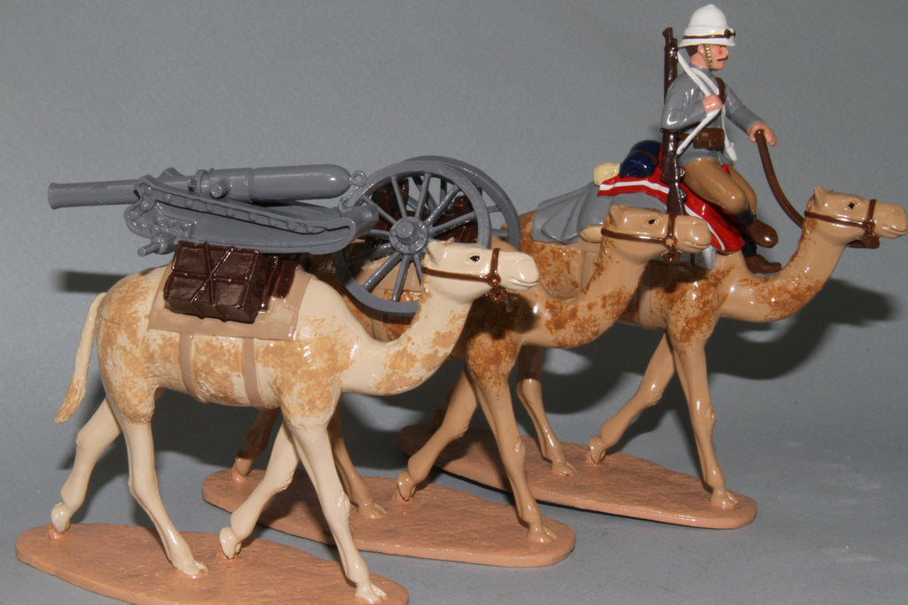 SC32B British Camel Corps Screw Gun and Camels from Regal Toy Soldiers