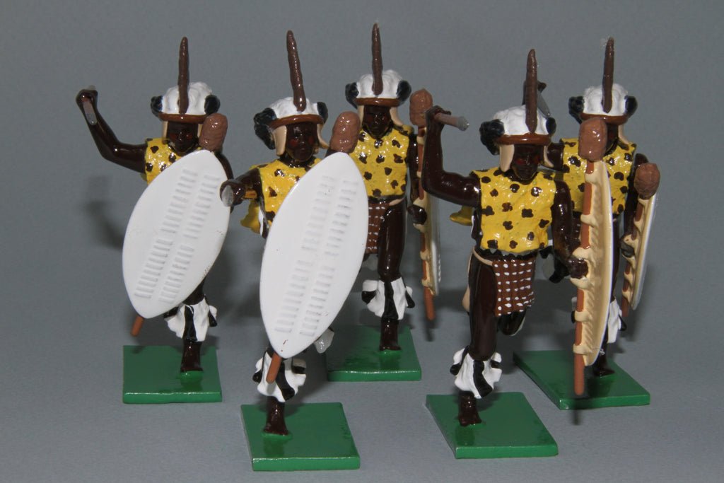 ZW5A 1879 Zulu wars, uThulwana Zulu Regiment from Regal Toy Soldiers