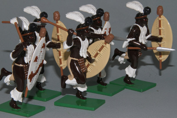 ZW10A 1879 Zulu wars, iNdlondlo Zulu Regiment from Regal Toy Soldiers
