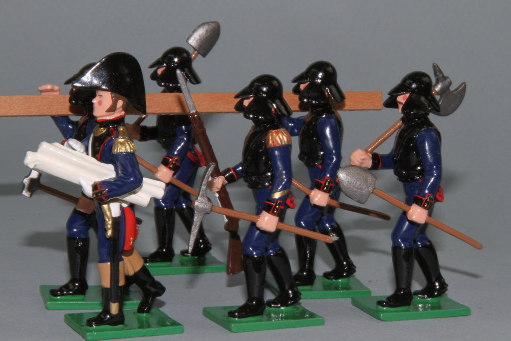 N308 - Napoleonic French Engineers of 1812 from Regal Toy Soldiers