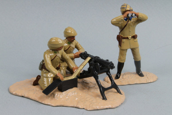 WW81 - Turkish Maxim Gun Team, Gallipoli 1915 - Regal Toy Soldiers - Piers Christian Toy Soldiers