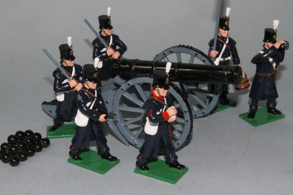 CW41A - British  18 Pounder Gun and crew from the Crimea. From Regal Toy Soldiers