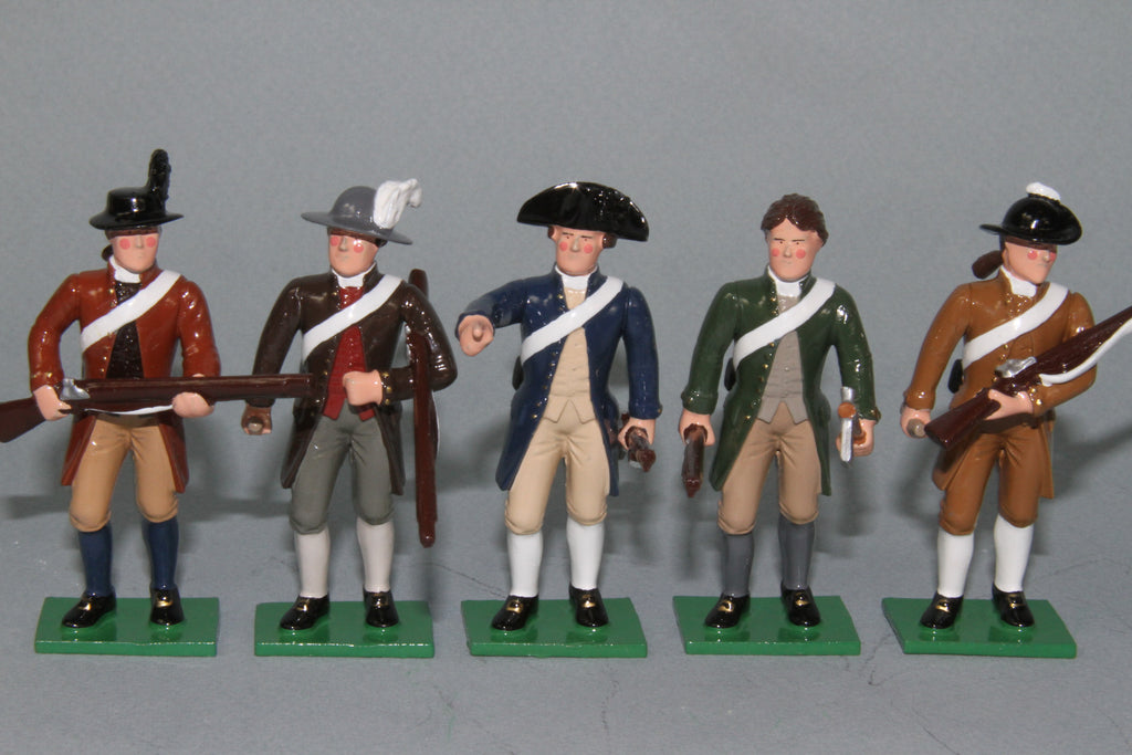 EA24 - Minutemen Wearing Long Coats, Standing from Regal Toy Soldiers