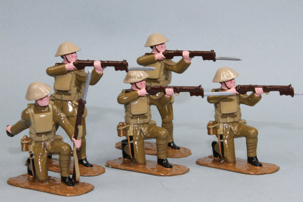 WW133 - Great War British Infantry firing (1916-18), from Regal Toy Soldiers - Piers Christian Toy Soldiers - 1