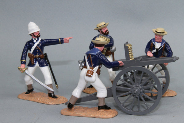SC57 - Royal Navy Gardener Gun with crew, Sudan Campaign 1884-98 from Regal Toy Soldiers - Piers Christian Toy Soldiers - 1