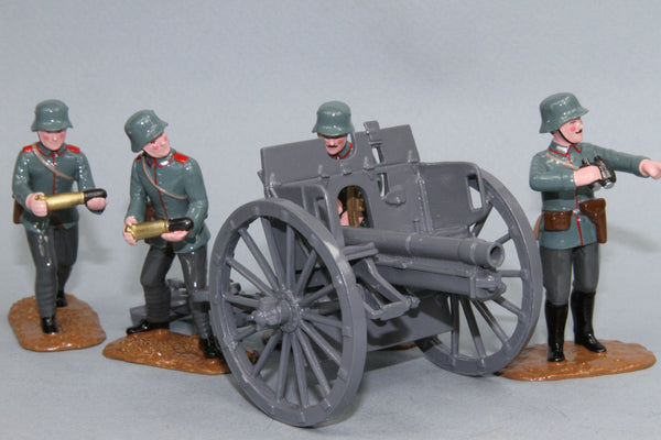 WW85A - Imperial German Army 77mm Field Gun and crew from Regal Toy Soldiers - Piers Christian Toy Soldiers - 1