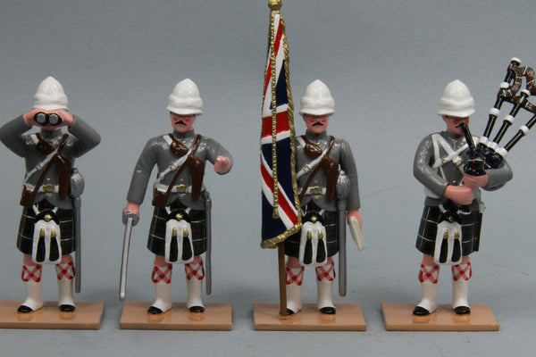 HR14A -- Seaforth Highland Infantry Command set from Regal Toy Soldiers - Piers Christian Toy Soldiers - 1