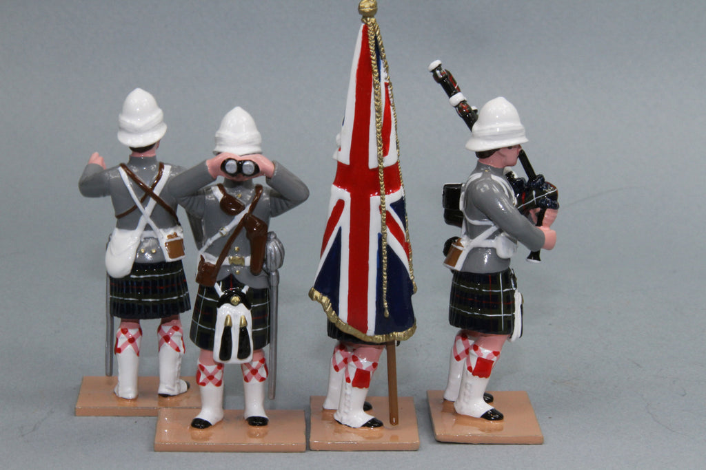 HR14A -- Seaforth Highland Infantry Command set from Regal Toy Soldiers - Piers Christian Toy Soldiers - 2