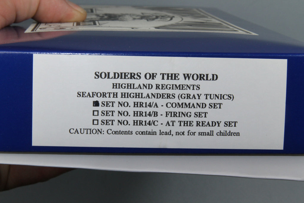 HR14A -- Seaforth Highland Infantry Command set from Regal Toy Soldiers - Piers Christian Toy Soldiers - 3