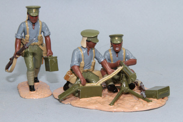 NZEF8 - 1st Maori Contingent Maxim Gun Team, NZEF 1915 from Regal Toy Soldiers - Piers Christian Toy Soldiers - 1