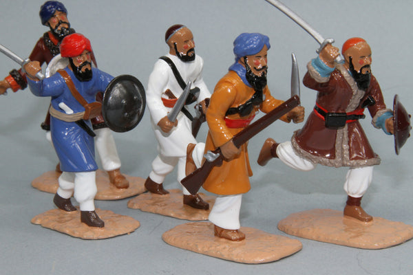 NZF3 - Charging Afghan Warriors from Regal Toy Soldiers - Piers Christian Toy Soldiers - 1