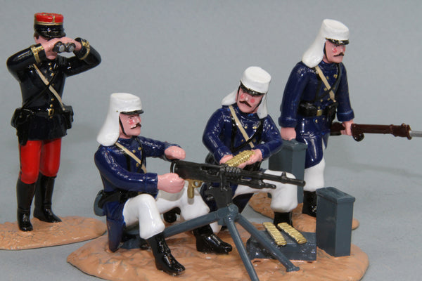 NA4 - French Foreign Legion Hotchkiss MG and crew from Regal Toy Soldiers - Piers Christian Toy Soldiers - 1