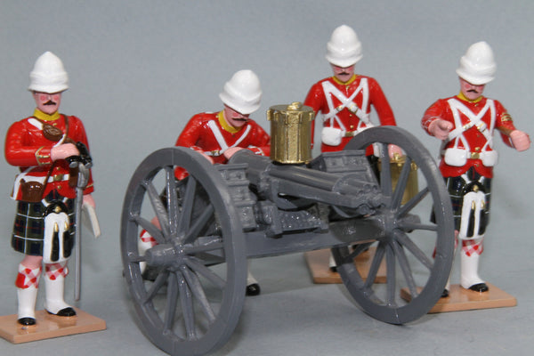 HR2A - Seaforth Highlanders with Gatling Gun from Regal Toy Soldiers. - Piers Christian Toy Soldiers - 1