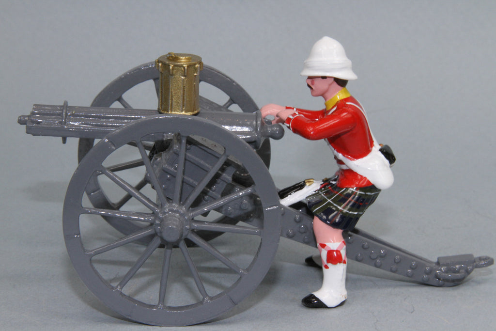 HR2A - Seaforth Highlanders with Gatling Gun from Regal Toy Soldiers. - Piers Christian Toy Soldiers - 2