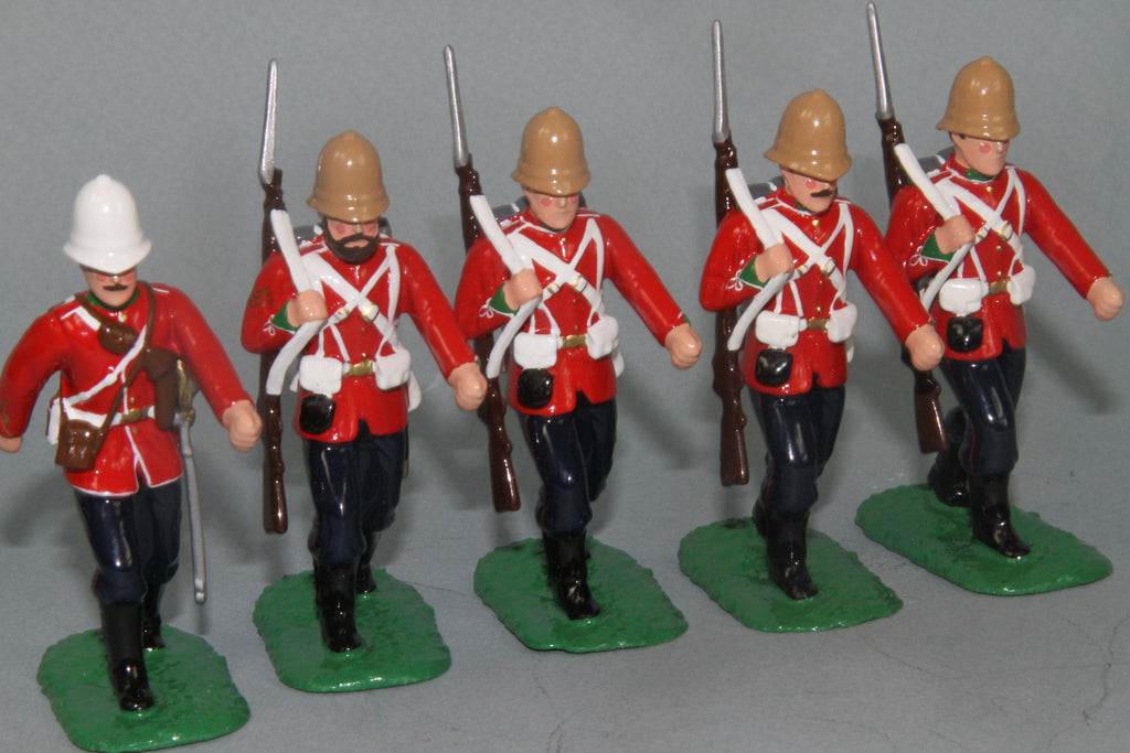 ZW26A - British 24th foot of 1879 marching. Made by Regal Toy Soldiers