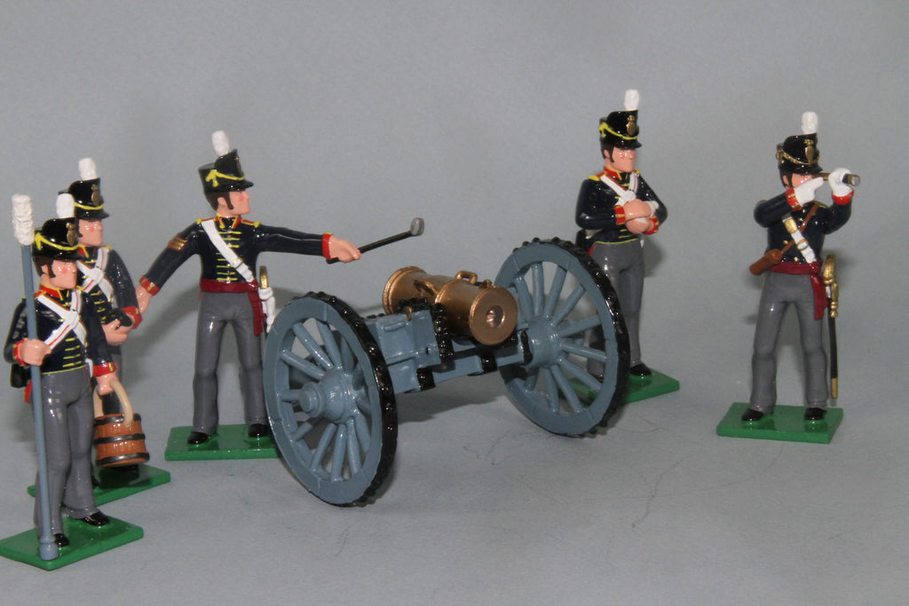N545A - Royal Artillery 5.5inch Howitzer with crew firing. Regal Toy Soldiers