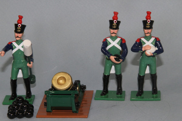 N416A Napoleonic French Coast Defence Artillery Regiment 10in Land Mortar and crew from Regal