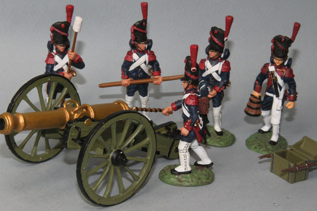 FAG2 - French 12LB Cannon and crew loading. Frontline Napoleonic - Piers Christian Toy Soldiers - 1