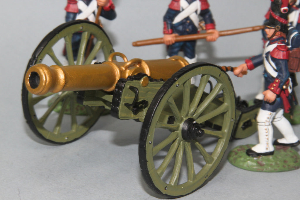 FAG2 - French 12LB Cannon and crew loading. Frontline Napoleonic - Piers Christian Toy Soldiers - 2