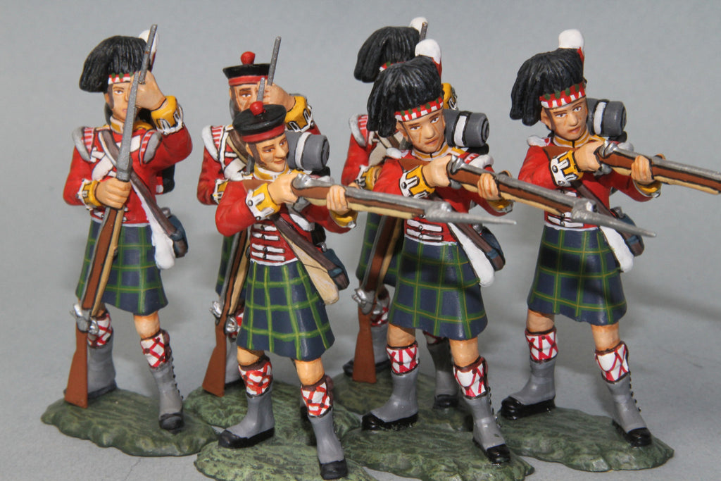BNG1 - British Gordon Highlanders, Firing and Loading. Frontline Napoleonic - Piers Christian Toy Soldiers - 1