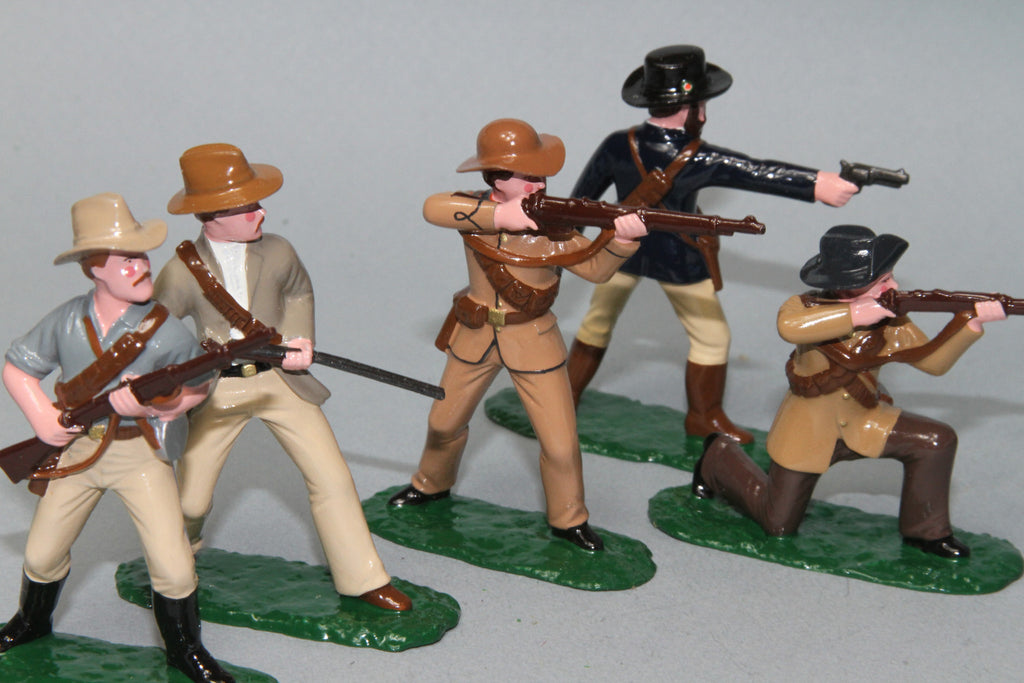 BW6 - Boer Commandoes, 1899-1902 made by Regal Toy Soldiers - Piers Christian Toy Soldiers - 1