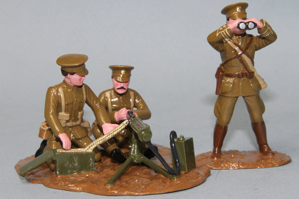 WW080/C - British Vickers Machine Gun and crew from Regal Toy Soldiers - Piers Christian Toy Soldiers - 1