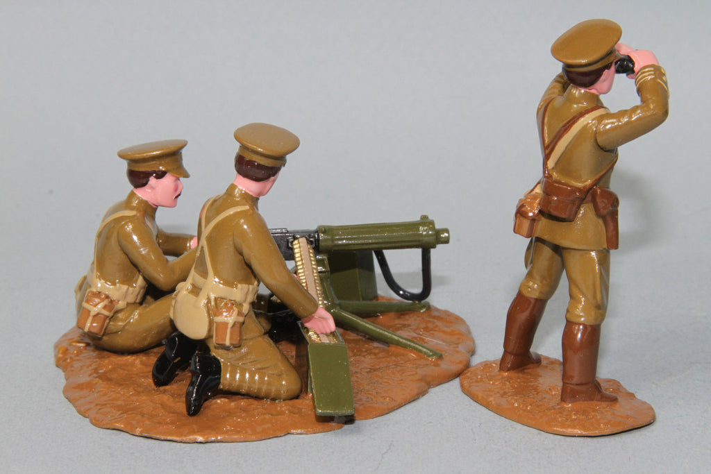 WW080/C - British Vickers Machine Gun and crew from Regal Toy Soldiers - Piers Christian Toy Soldiers - 3