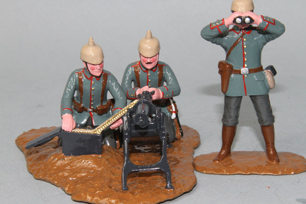 WW84 - German Maxim Machine Gun and crew from Regal Toy Soldiers - Piers Christian Toy Soldiers - 1