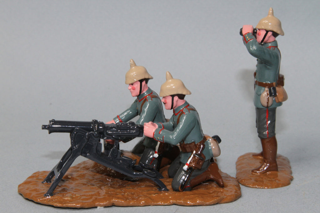 WW84 - German Maxim Machine Gun and crew from Regal Toy Soldiers - Piers Christian Toy Soldiers - 2