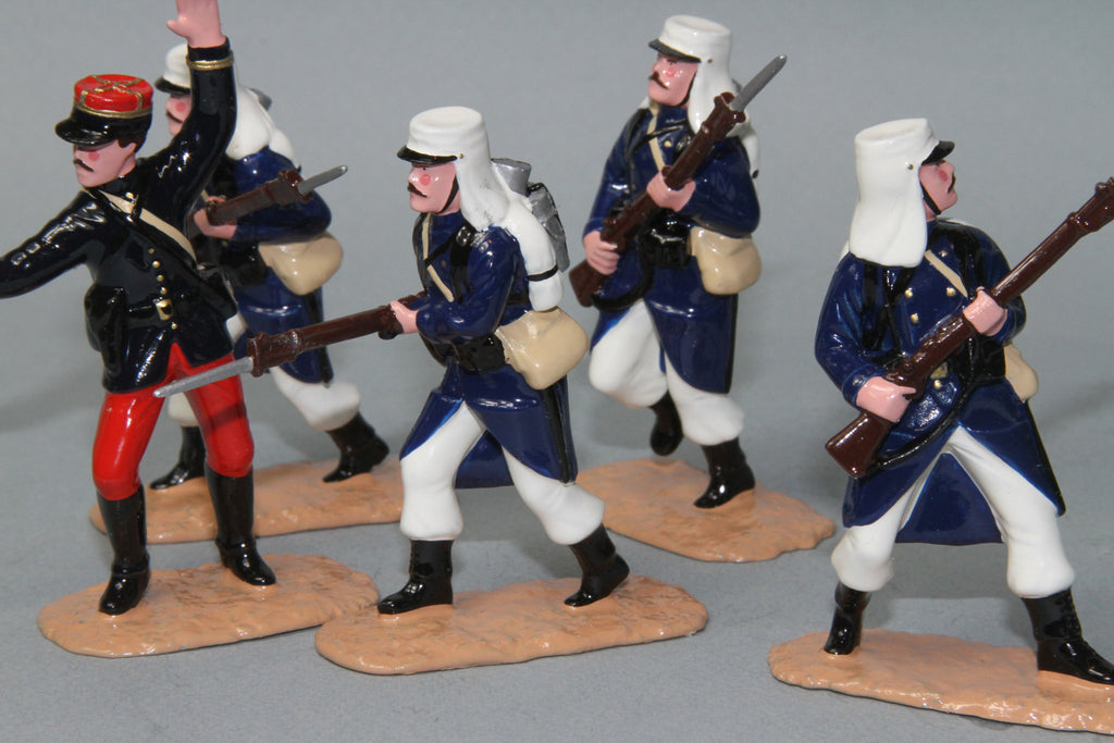 NA1 - French Foreign Legion Attacking. Made by Regal Toy Soldiers. - Piers Christian Toy Soldiers - 1