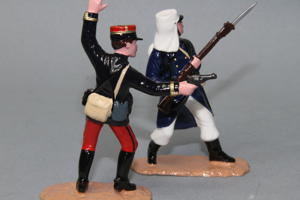 NA1 - French Foreign Legion Attacking. Made by Regal Toy Soldiers. - Piers Christian Toy Soldiers - 3