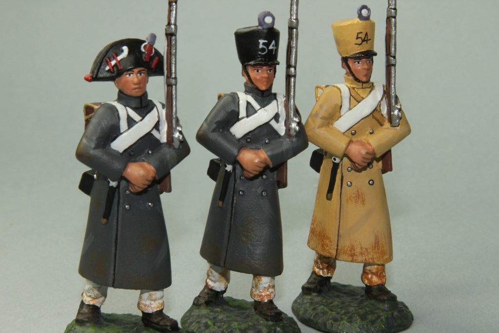 FLI14 - 54th French Line Infantry Marching, Frontline Napoleonic - Piers Christian Toy Soldiers - 1