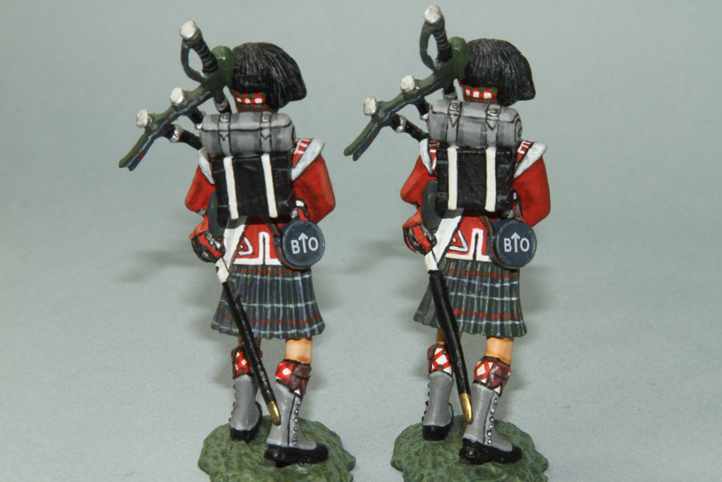 NBW8 - British Royal Highlanders Regimental Pipers. Frontline Napoleonic - Piers Christian Toy Soldiers - 2