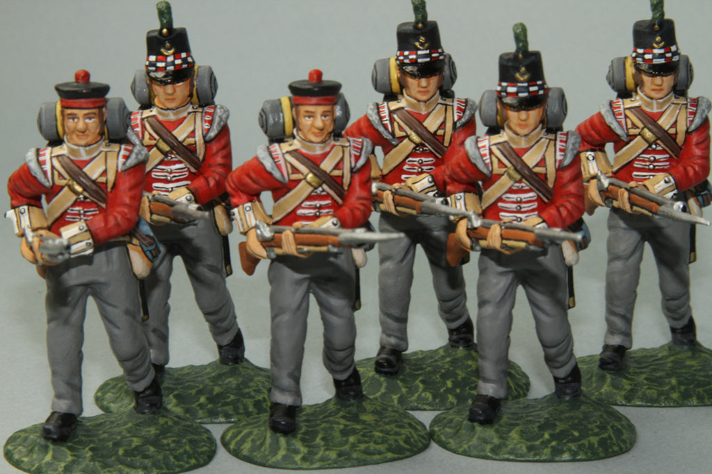 GLI8 - Highland Light Infantry Advancing. Frontline Napoleonic - Piers Christian Toy Soldiers - 1