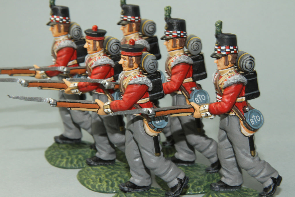 GLI8 - Highland Light Infantry Advancing. Frontline Napoleonic - Piers Christian Toy Soldiers - 2