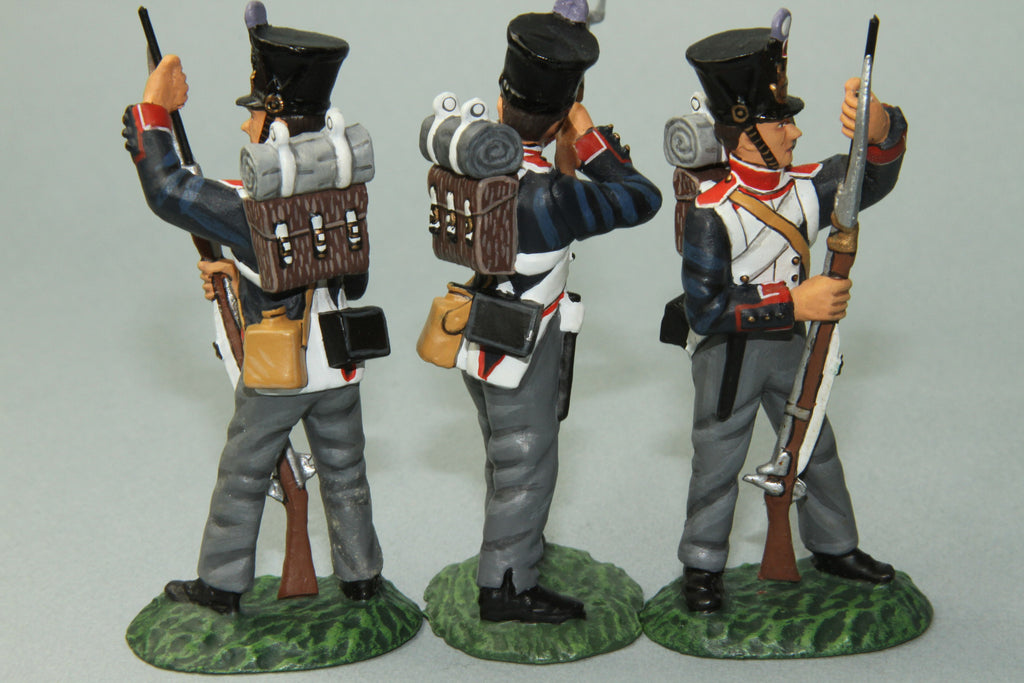 FLI6 - French 54th Line Regiment, Firing and loading. Frontline Napoleonic - Piers Christian Toy Soldiers - 2