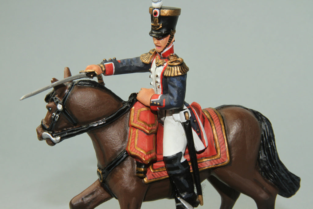 FLI7 - Mounted Officer, 54th Line Regiment. Frontline Napoleonic - Piers Christian Toy Soldiers - 2