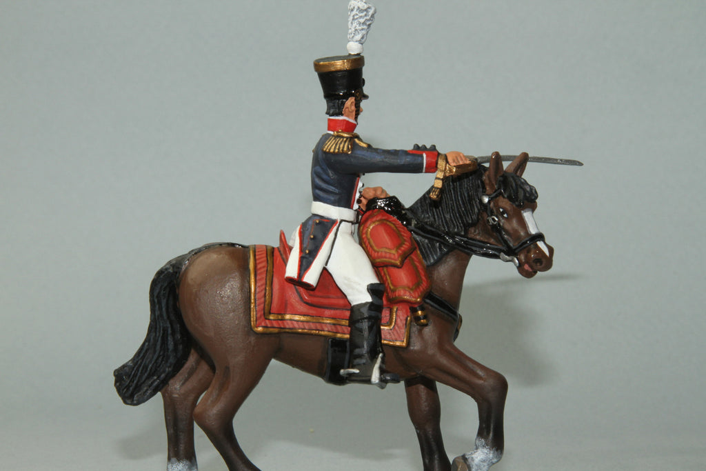 FLI7 - Mounted Officer, 54th Line Regiment. Frontline Napoleonic - Piers Christian Toy Soldiers - 1