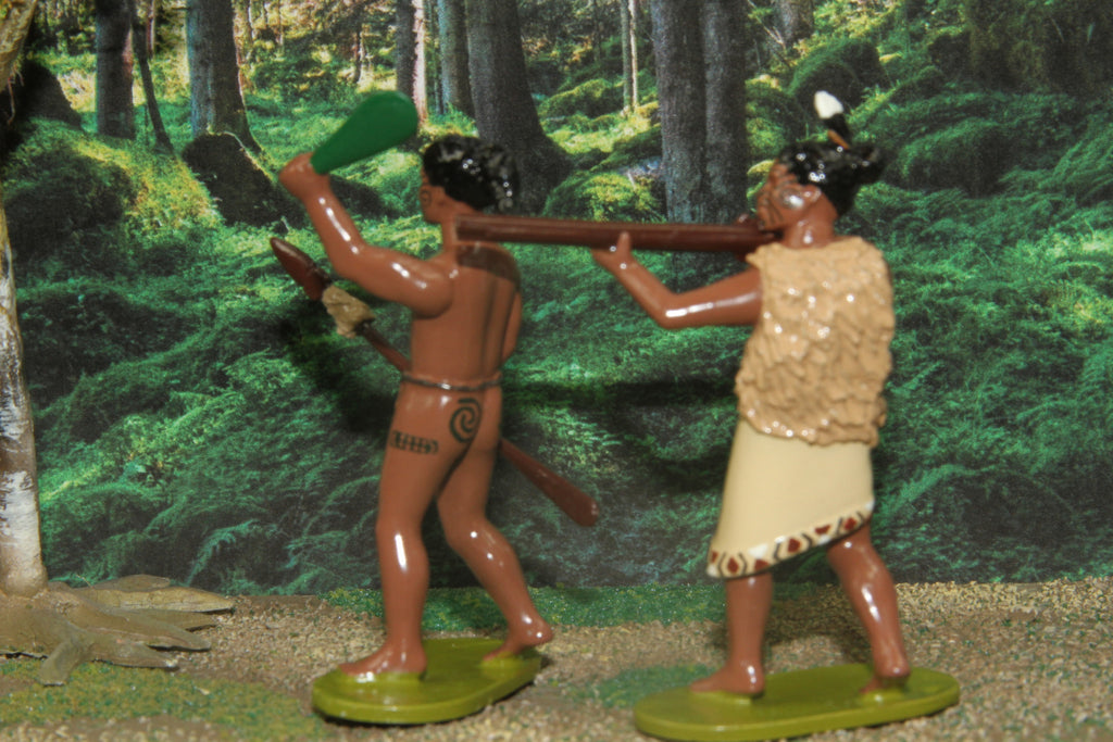 NZA - Set of two Maori Warriors 1844 - 1847, Regal Toy Soldiers - Piers Christian Toy Soldiers - 2
