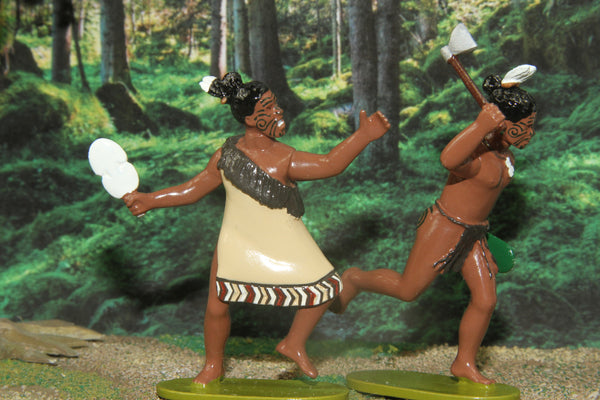 NZB - Set of two Maori Warriors 1844 - 1847, Regal Toy Soldiers - Piers Christian Toy Soldiers