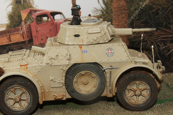 RHT059 Rhino Tanks - Autoblindo AB43 Nizza Cavalleria, North Africa - Piers Christian Toy Soldiers - 1
