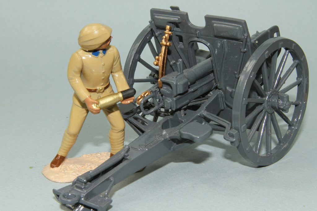 WW182 - Turkish Army (German) Krupp 77mm Artillery Field Gun with four man crew. Regal - Piers Christian Toy Soldiers - 3